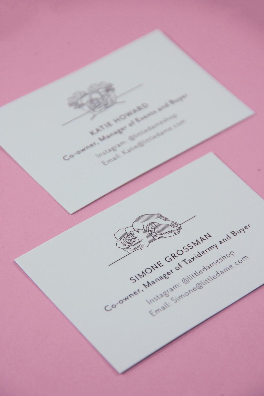 Little Dame Shop: Brand: Business Card