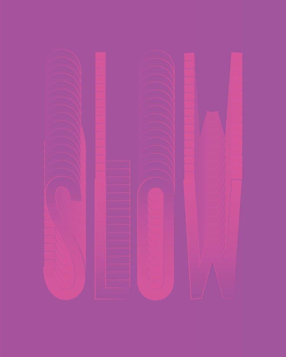 SLOW Lettering | Annie Szafranski | Feels Design Studio