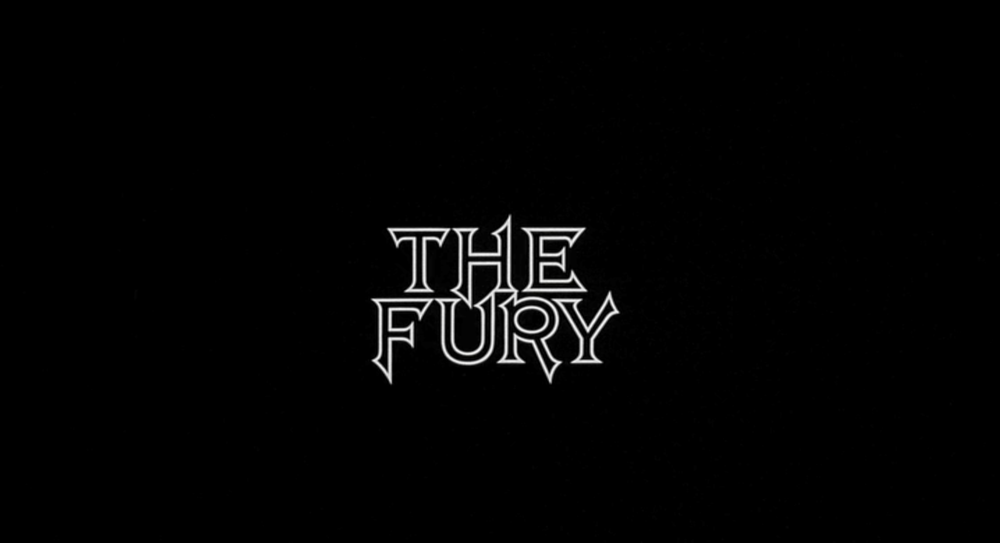 Brian De Palma: The Fury, 1978: Title Card