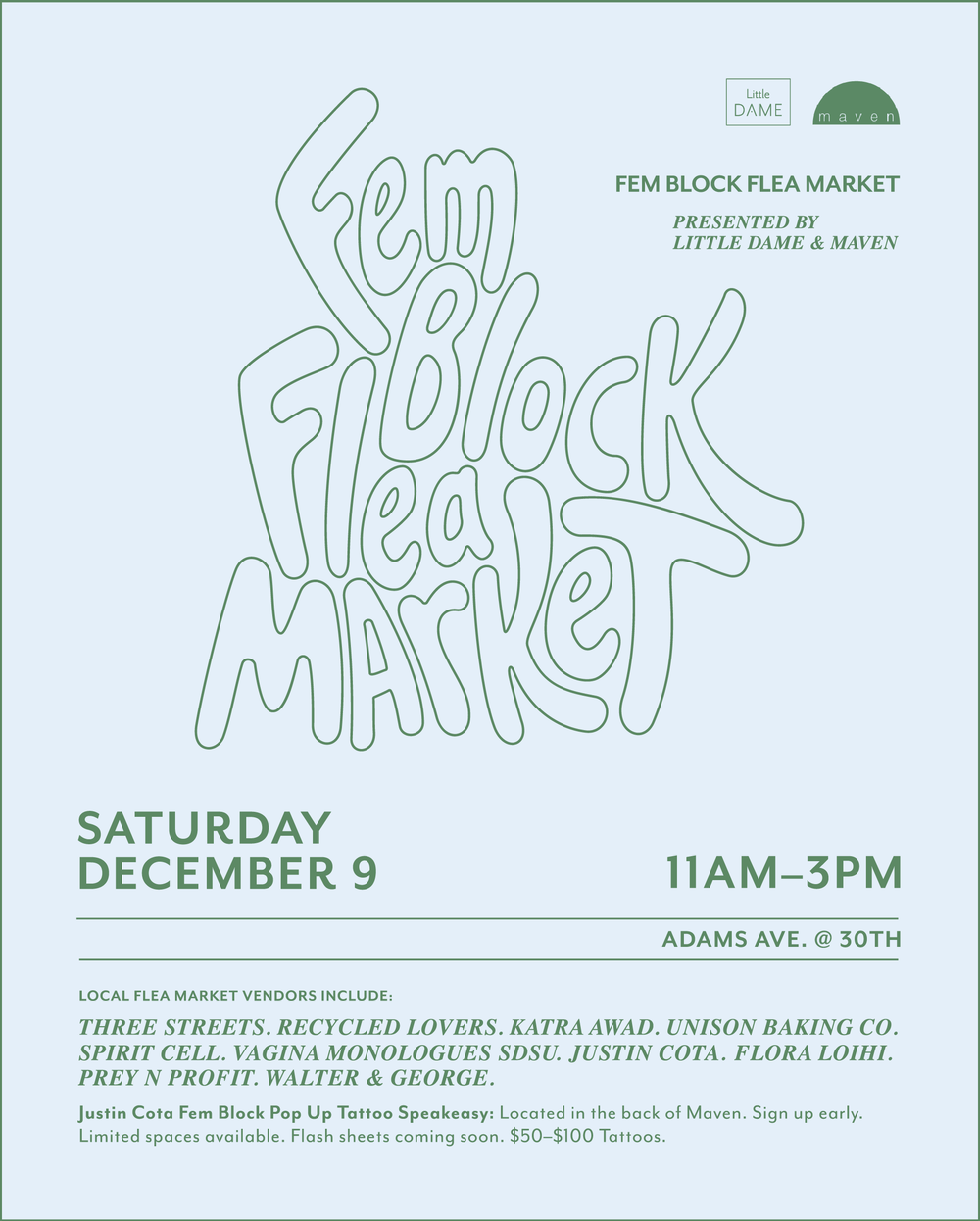 fem block flea market december