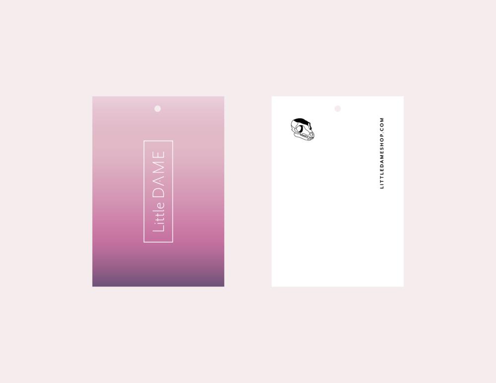 Little Dame | 2019 Hang Tags | Feels Design Studio, LLC