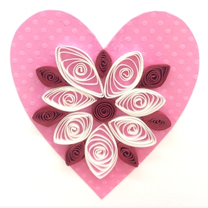 Paper Acorn Class Paper Quilling Valentine S Day Card