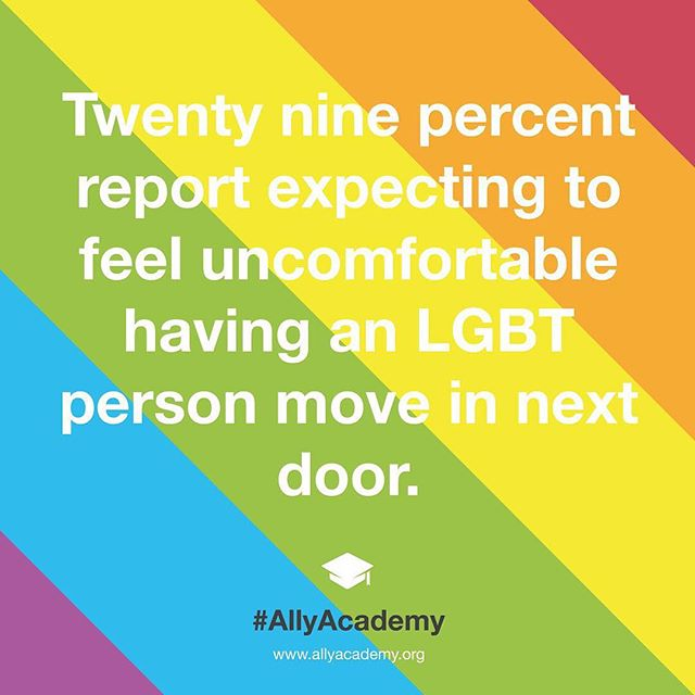 For more information see @glaad's report: Accelerating Acceptance #AllyAcademy #LGBTallies #GLAAD