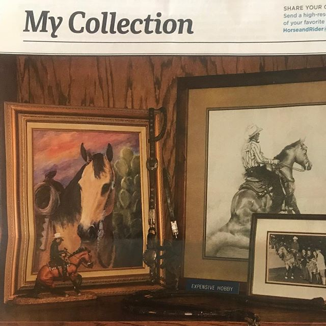 I share my Expensive Hobby Collection in the latest @horseandridermag 🤠