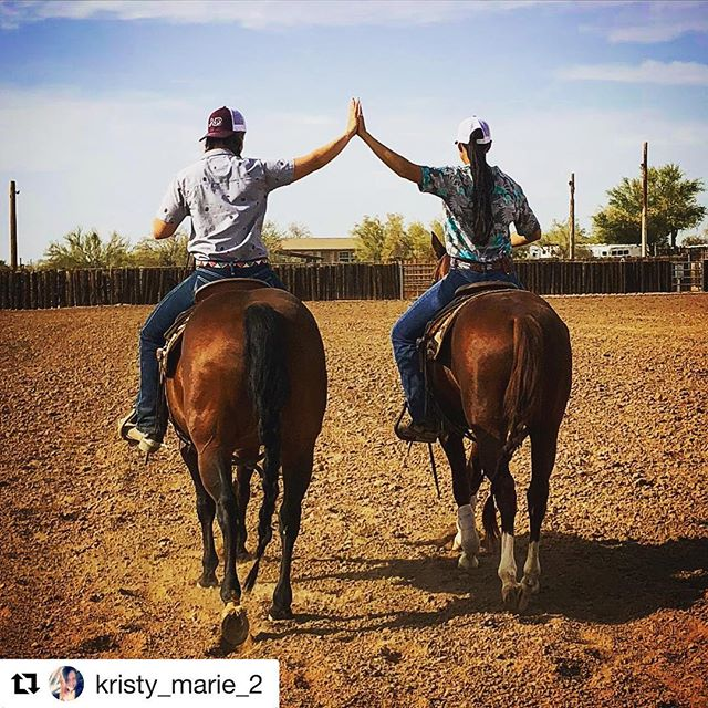 #Repost @kristy_marie_2 ・・・ I can honestly say I know what it's like to wake up and do what you love everyday.  Work isn't work when's it's your passion and I'm so thankful I get the opportunity to experience this! It doesn't hurt that I'm working alongside people with the same drive and vision as me.  #horsemanship #hardwork #dreams #cuttinghorse #vision #almostaranch