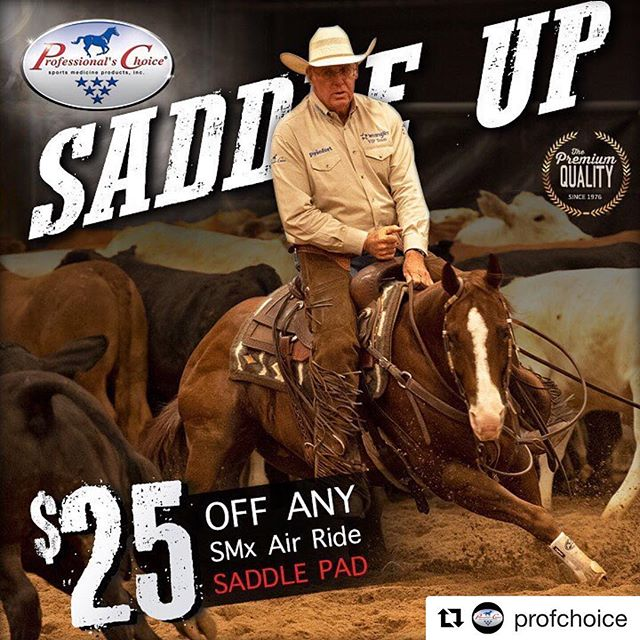 "#Repost @profchoice ・・・ 🐎 Saddle UP!  Feel the difference with our 60-day money-back guarantee.  Al Dunning riding in the HOURGLASS, Comfort-Fit™ SMx Air Ride™ Pad.  This pad has many features and benefits and available in a variety of colors… ✅ Contoured to fit your horses back and allow freedom of movement ✅ Lightweight, breathable and heat minimizing design ✅ Shock-absorbing Air Ride core ✅ Air Chanel to keep pressure off of the spine ✅ Merino wool bottom wicks moisture away ✅ Handwoven Navajo top in a variety of colors and patterns Available in:  30"" x 34"" 1/2"" Core  or  33"" x 38"" 3/4"" Core  Utill September 30th save $25 off any SMx Air Ride Saddle pad. 📷 : Charles Brooks  #TeamProfChoice #SMxAirRidePads #Save$25Now #ItsAllAboutTheHorse"