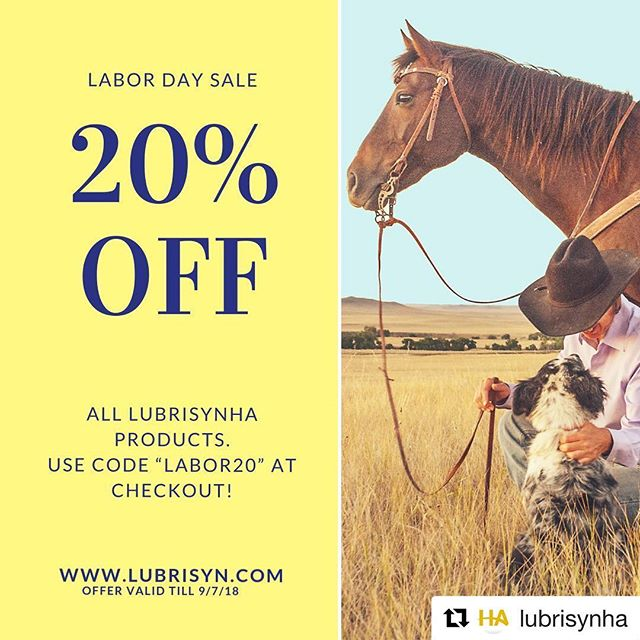 "#Repost @lubrisynha ・・・ Happy Labor Day! To celebrate, we're giving you 20% off all LubriSynHA products until Friday, September 7th. Use code ""labor20"" at checkout to get the discount.  #discount #labordayweekend #laborday #lubrisynha #fallintofall"