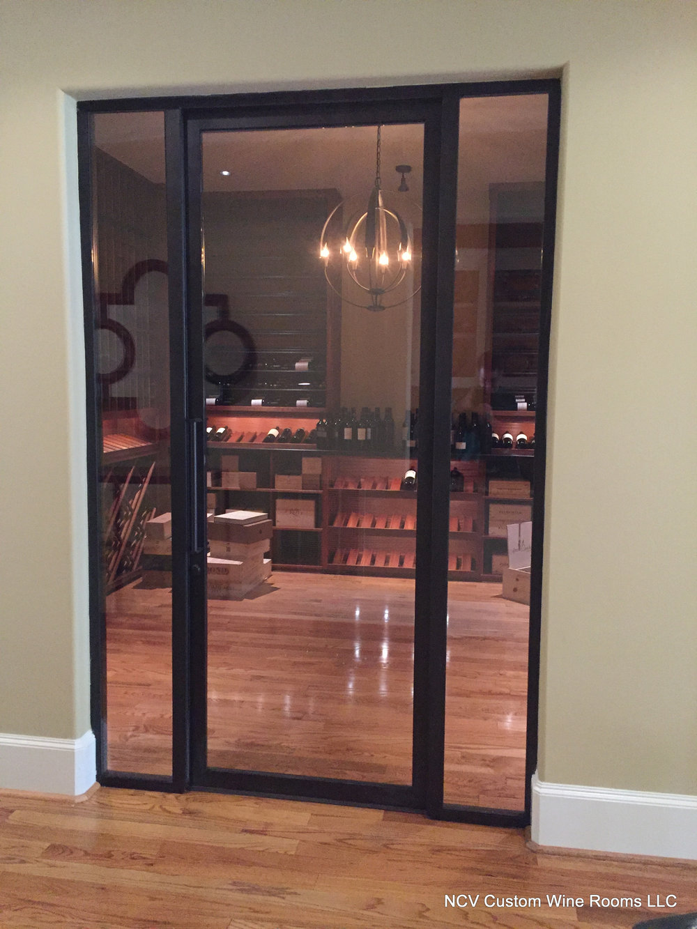 Custom metal and glass doors.