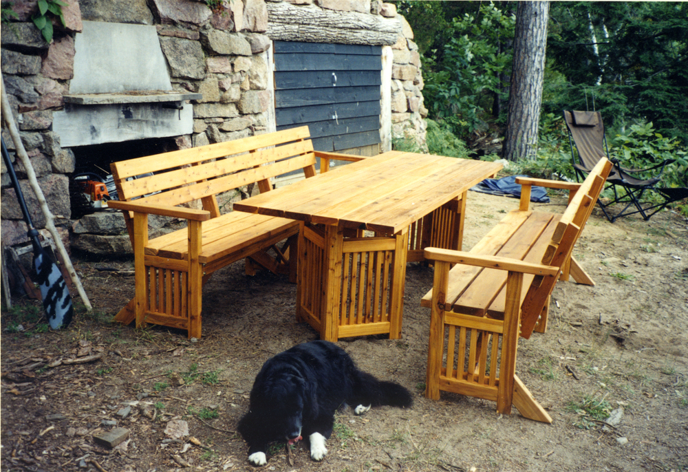 Maggie & Dave's Mission style picnic furniture.jpg