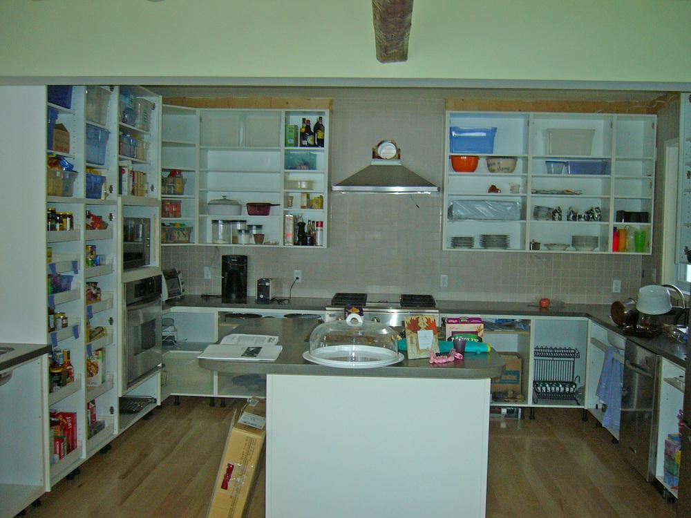 Kitchen DURING RENO