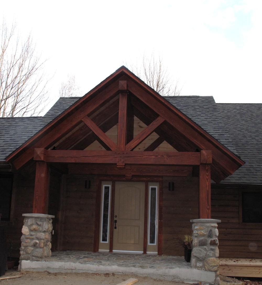Ray & Carolyn's timber frame & stone entry.jpg