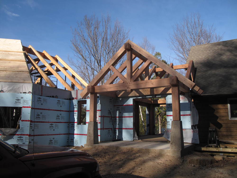 Ray & Carolyn's timber frame entry during.JPG