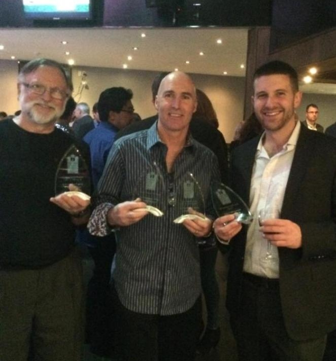 Don and his Kawartha Lake Construction associates at the Peterborough and Kawartha Homebuilders Association Awards ceremony earlier this month, where they won 5 prestigious awards!