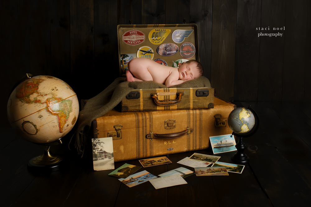 charlotte nc themed newborn travel shoot