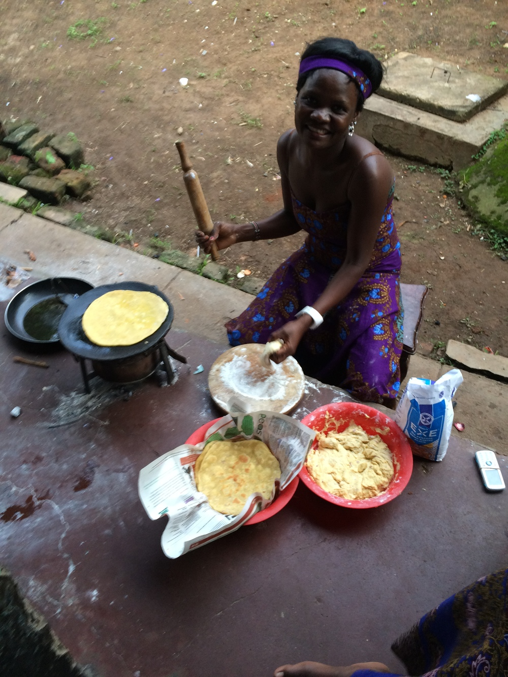 3 Evelyn - cooks meals for the family Nov 2014.JPG
