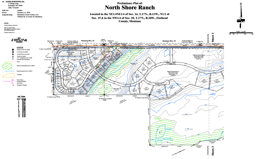 Closer look at western edge of North Shore Ranch.