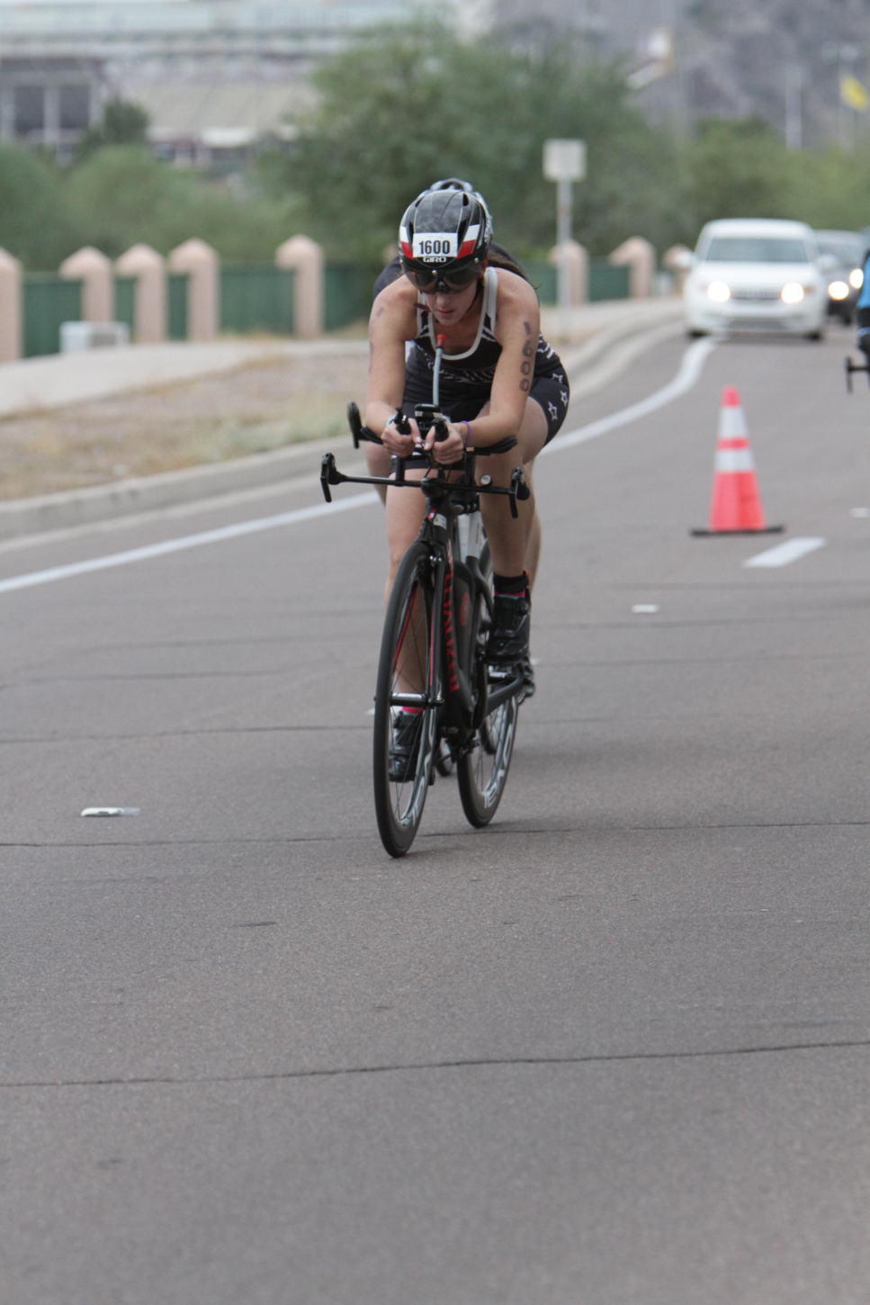 Photographer got this picture of a guy drafting right off my wheel!