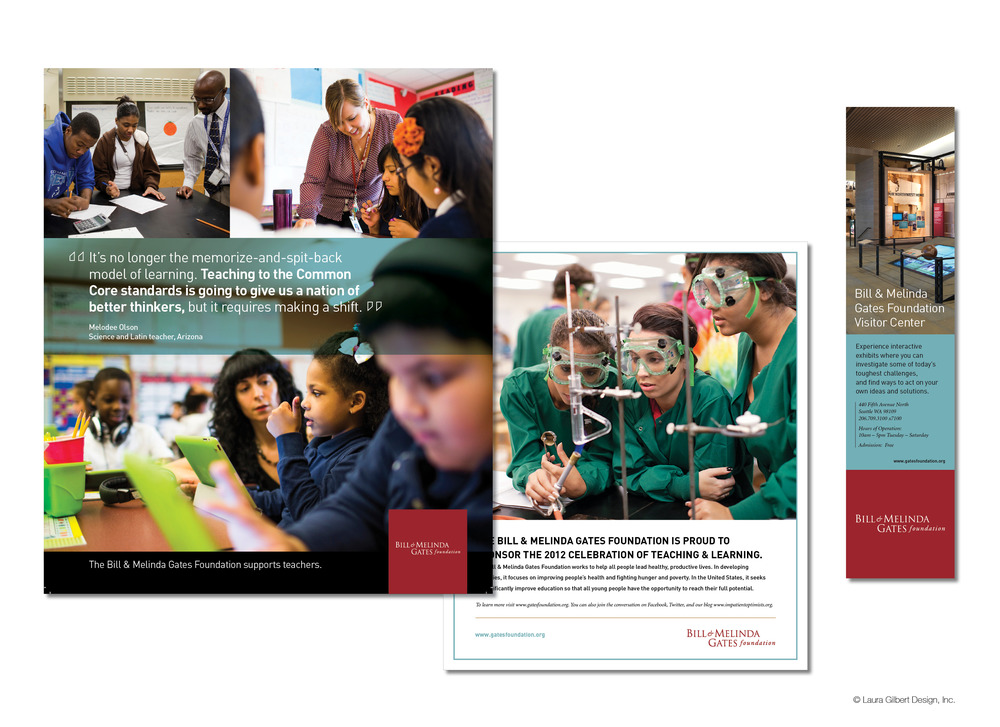 Print ads for education initiatives and the opening of the foundation's visitor center