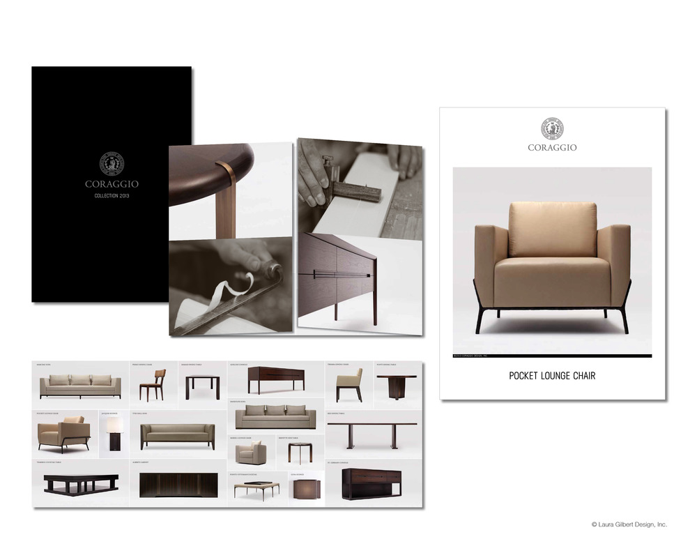 Direct mail catalog and tear sheets for new furniture line