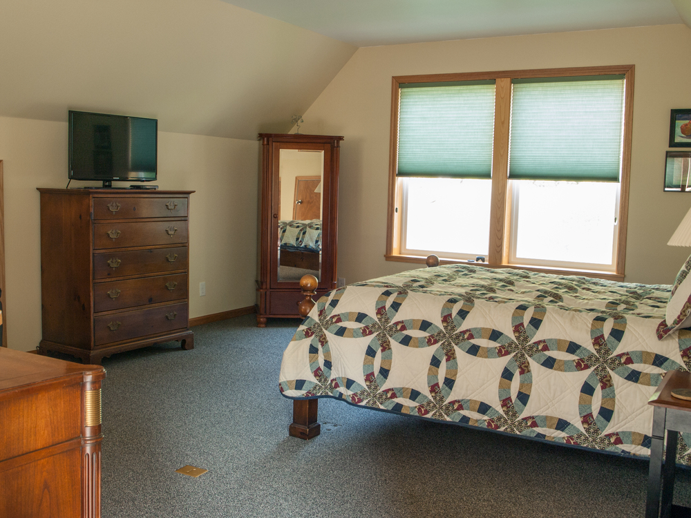 Vaulted ceilings, large windows and skylights bring plenty of light into the suite.
