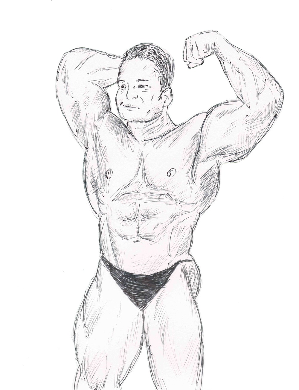 """Professional Bodybuilder,"" from ""Costume Party"" and ""Christmas Party."""