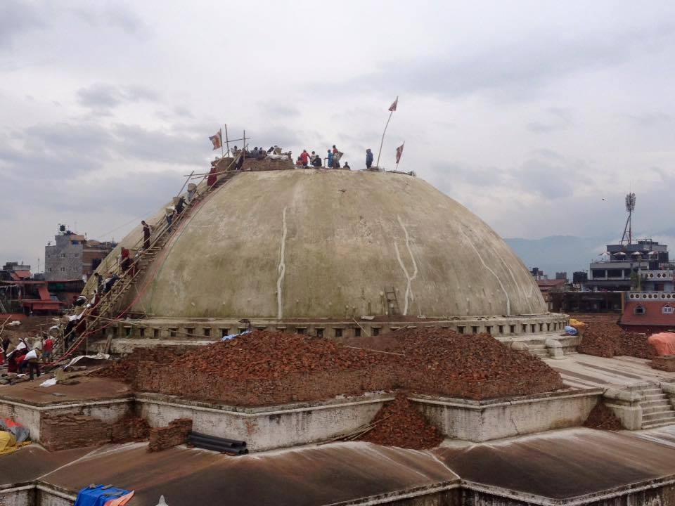 Boudhanath Stupa from afar