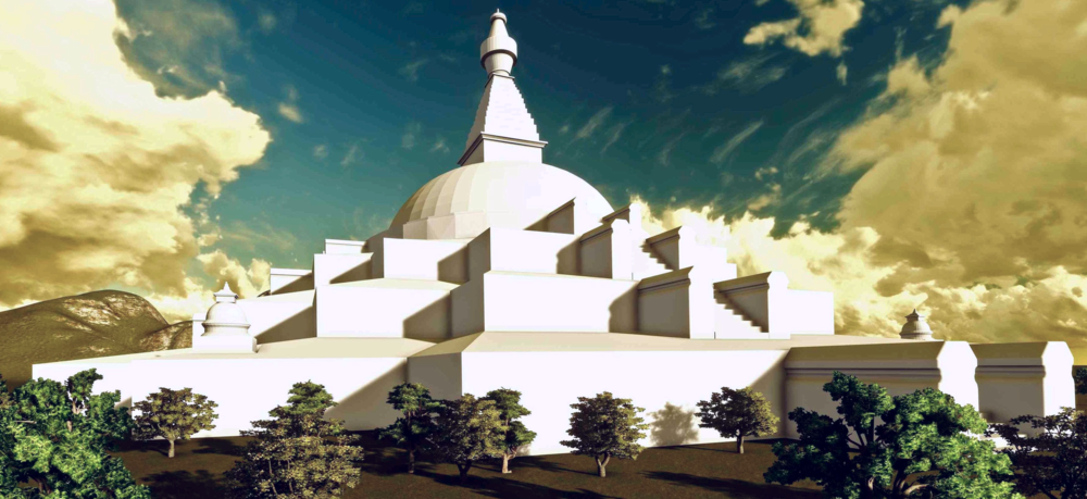 3D rendering of the Stupa of the Great Awakening