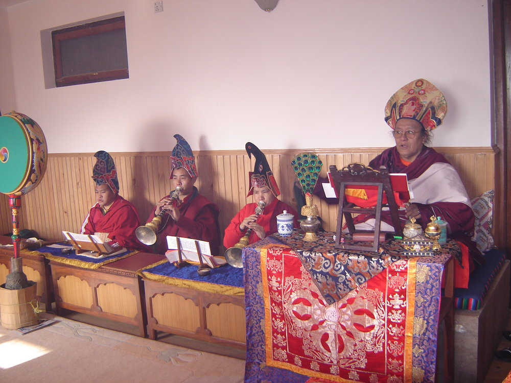 Lama Yedrol in Dechen Mingyurling Center Shrine