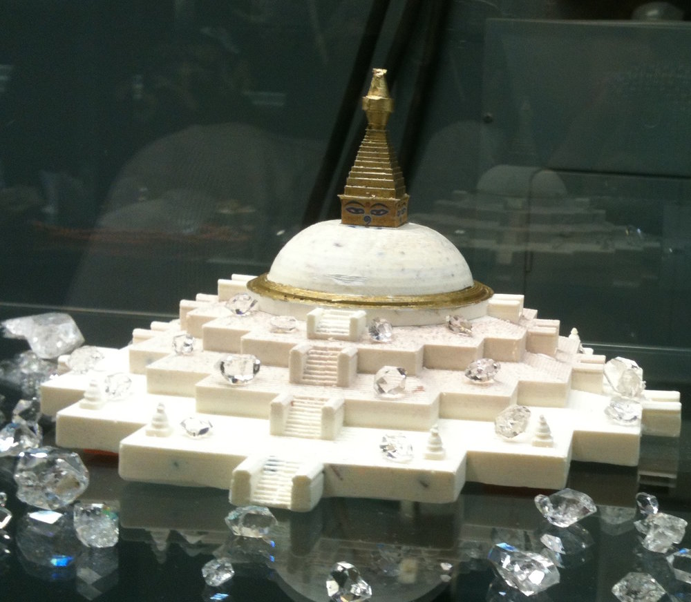 Stupa of the Great Awakening fully consecrated model with Relics