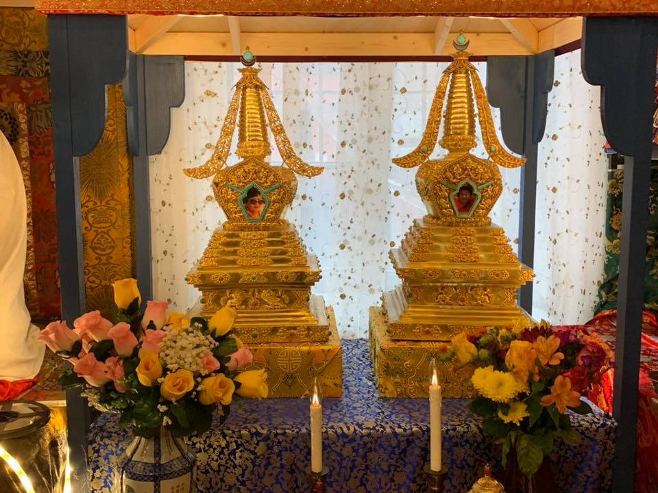 Memorial Relic Stupas of Sangyum Rigdzin Wangmo and His Holiness Dungse Shenphen Dawa Norbu Rinpoche