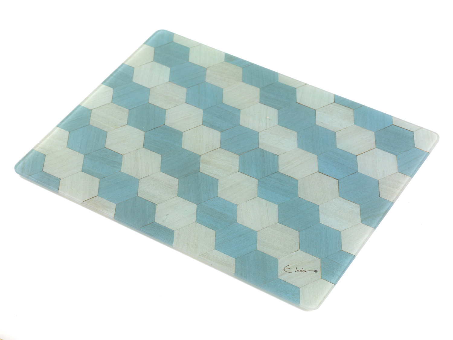 Toughened Glass Chopping Board Worktop Saver - Duck Egg Blue ...