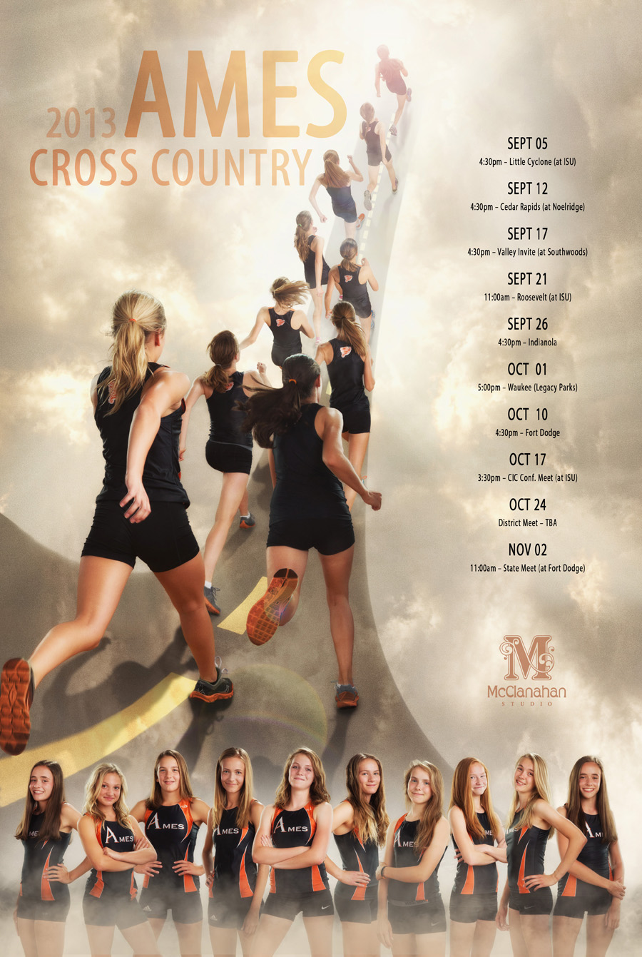 Ames High School Girls Cross Country 2013