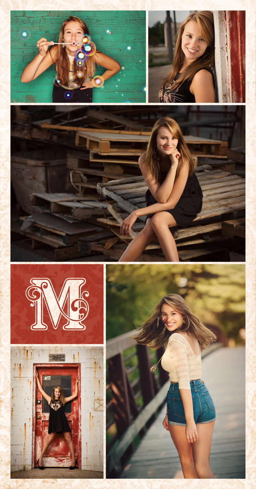 Senior photos from McClanahan Studio in Ames Iowa. Fun, beautiful, fashion inspired imagery