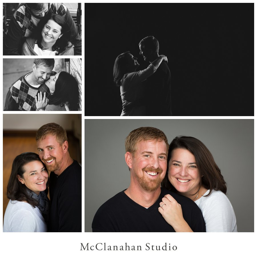 Engagement photos in Ames Iowa with Ford pickup trucks, Iowa skies and beautiful nature locations photographed by McClanahan Studio