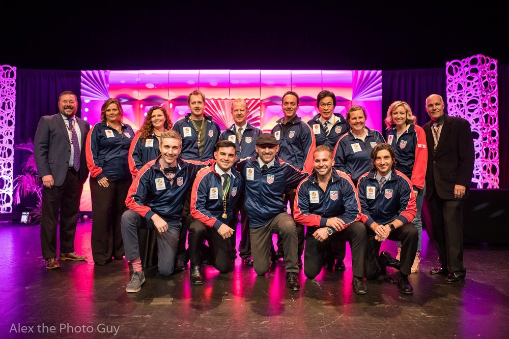 Team USA 2019 posing for a photograph at Imaging USA in Atlanta, GA.