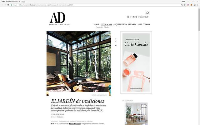 Architectural Digest Spain just featured House 1. Thank you for this article on your website. https://www.revistaad.es/decoracion/casas-ad/articulos/jardin-de-tradiciones/21218 #alexisdornier #alexisdornierarchitecture #architecturaldigestspain