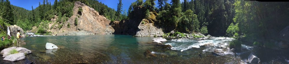 "McCloud River - Fishing in ""The Hole""."