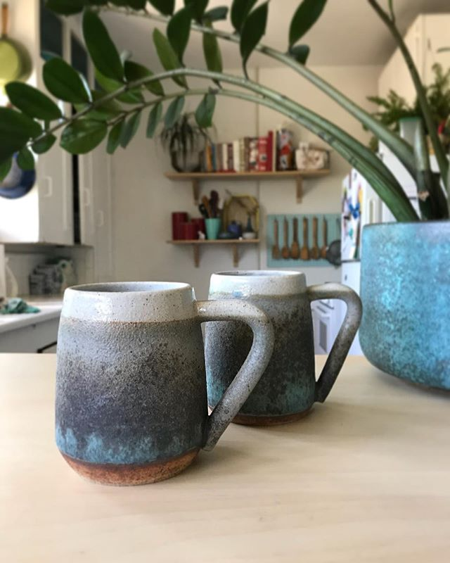 First set of mugs... in well a long time I got kinda distracted with sculptures but there plenty of time for both!