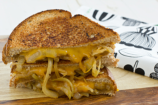 Grilled Cheese & Onion. Photo from http://ohmyveggies.com/