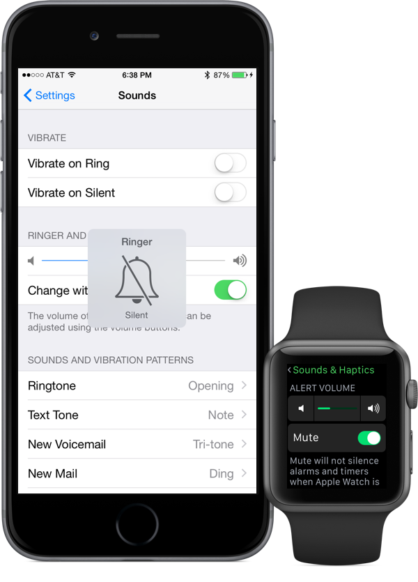 New call and alert settings with Apple Watch in the mix.