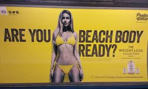 The Protein World advert that appeared on the London Underground.
