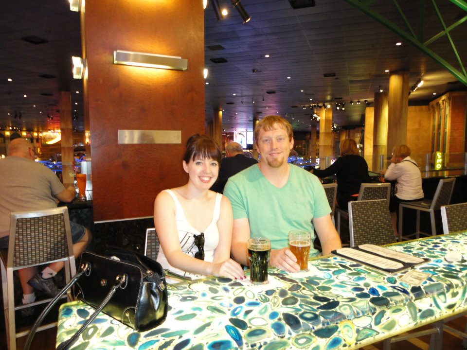 The writer and her husband at Pour 24 in Las Vegas, NV