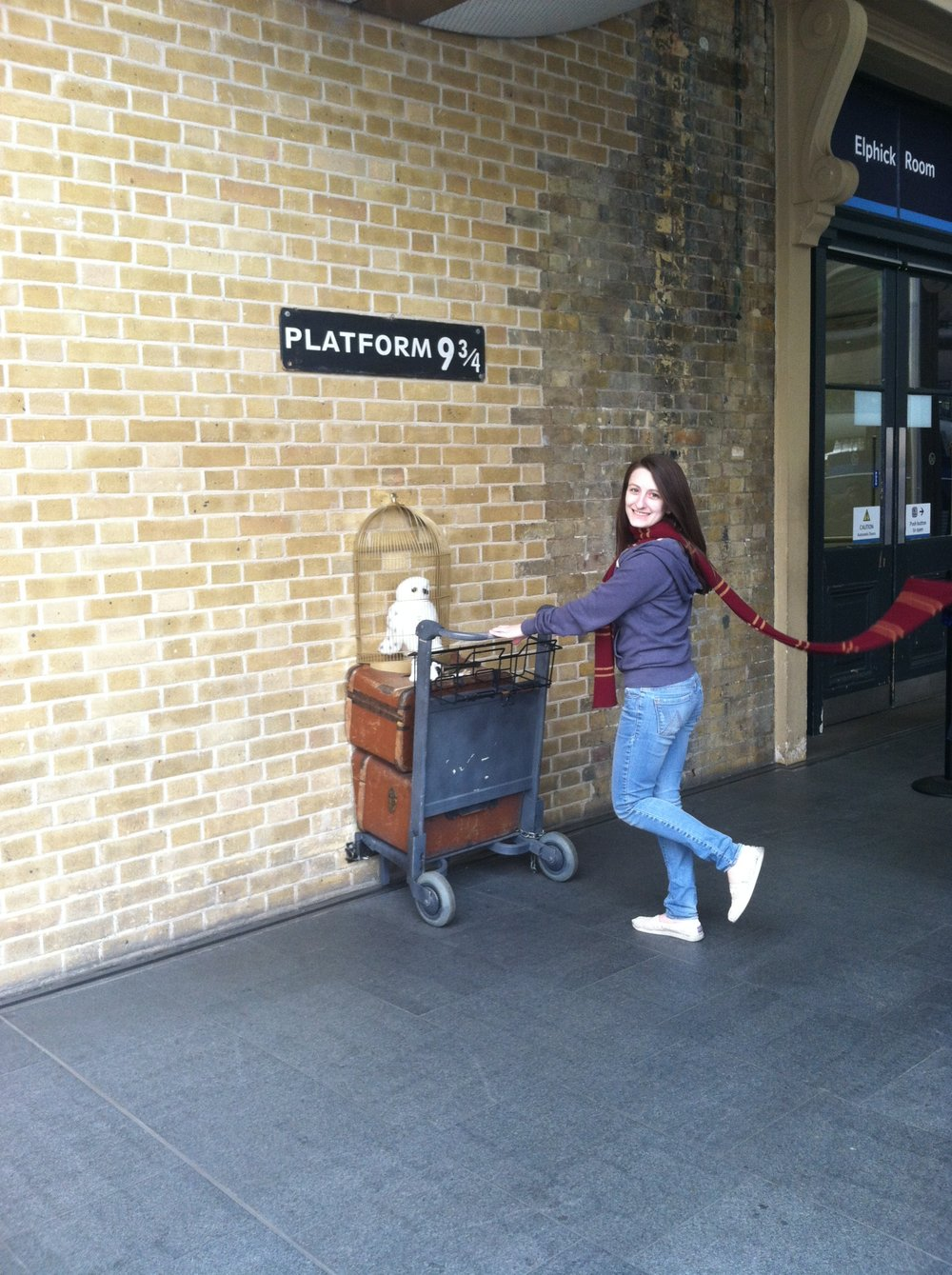 Entering Platform 9 3/4 at King's Cross Station