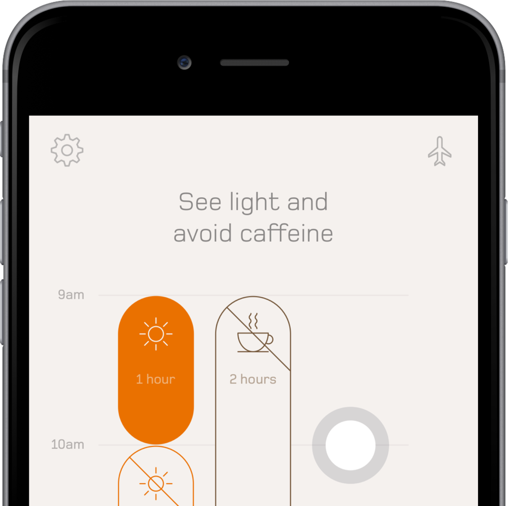 The Timeshifter jet lag app by Mental Workout