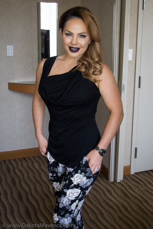 Mandy looks pretty amazing at the hotel on the way to IMATS, eh?
