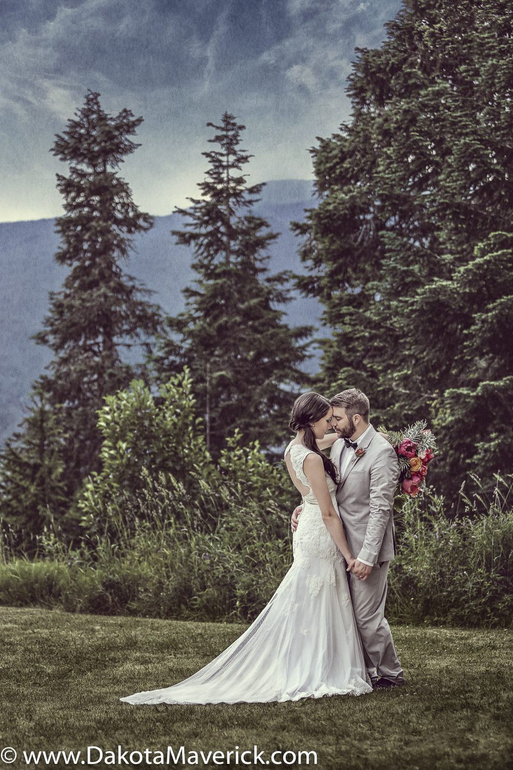 Grouse Mountain Wedding Portrait