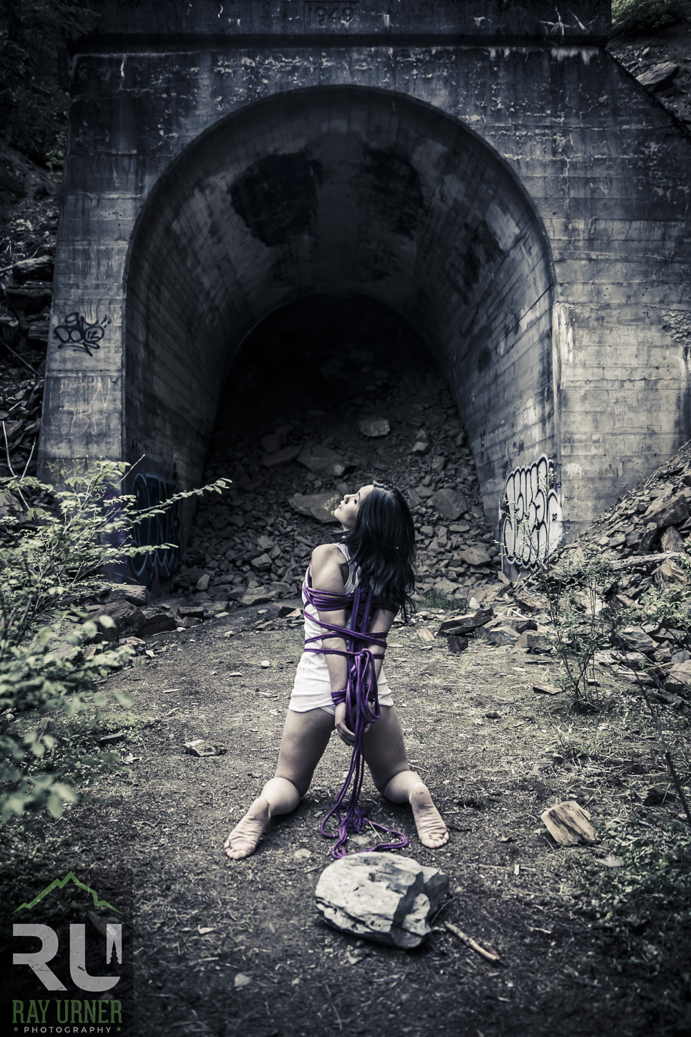 Shibari Bondage Fetish photoshoot at abandoned train tunnel (1 of 9).jpg