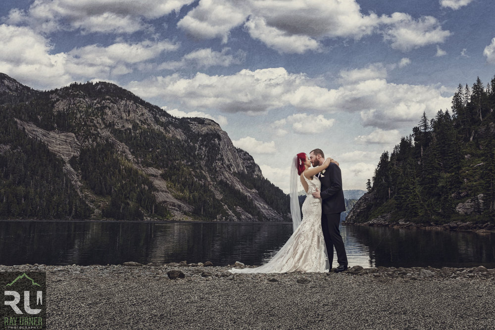 Best Vancouver Wedding Photography - Iva and Kyle - Sky Helicopter to Widgeon Lake