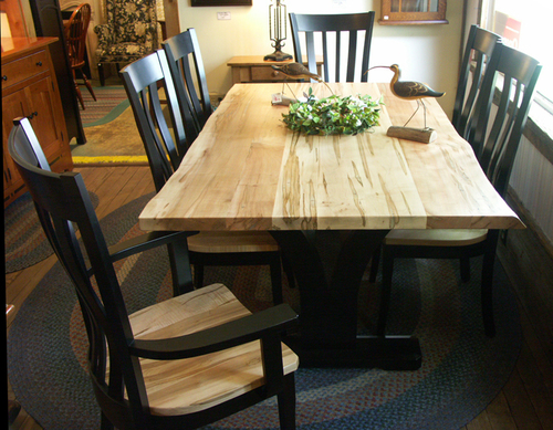Live Edge Wormy Maple Table and Chairs — GALLERY AUGUSTA