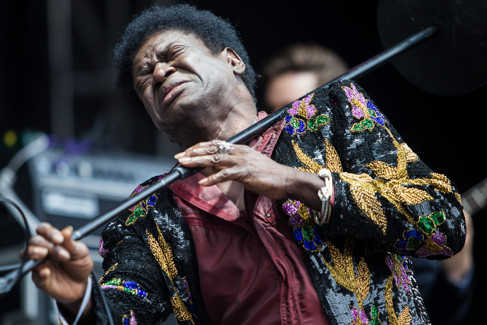 Charles Bradley performs on Sunday.